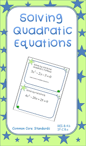 solving quadratic equations task cards square rootsthe