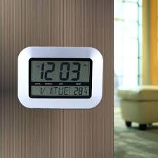 digital office wall clocks. simple wall self setting digital home office decor wall clock with indoor temperature  hanging free standing for modern clocks  and