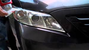 2007 Toyota Camry, Headlight Cleaning, Mothers Plastic Polish ...