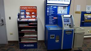 Usps Vending Machine Beauteous Automated Postal Center And New Priority Mail Box Display Flickr