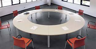 round conference table is always the best do you know that because office also need to be designed with taste