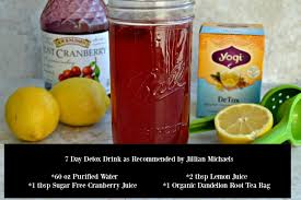 7 day detox drink recipe as recommended
