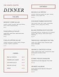 Event Menu Template Enchanting Customize 48 Dinner Party Menu Templates Online Canva