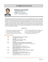 Page 1 of 4 CURRICULUM VITAE EDWIN M. AGUINALDO Licensed Civil Engineer  Contact No.