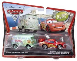 cars 2 toys diecast. Fine Toys Amazoncom DisneyPixar Cars 2 DieCast Race Team Fillmore And Lightning  McQueen With Travel Wheels 2Pack 155 Scale Toys U0026 Games With Diecast Amazoncom