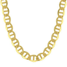 details about 14k yellow gold chain flat mariner gucci necklace men women 1 5mm 7 7mm 16 24