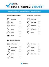 Your First Apartment Checklist Rent Com Blog