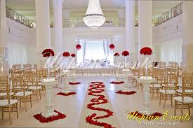 red and white wedding wedding roses gold chiavari chairs