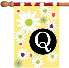 monogram outdoor house flags flag with initial q mad about gardening f monogram outdoor house flags