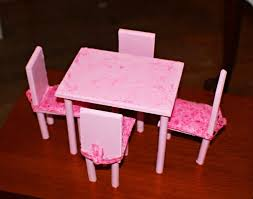 diy barbie furniture. Photo 3 Of 7 DIY Barbie Dining Room Table \u0026 Chairs. This Was A First Try, I\u0027 Diy Furniture