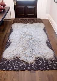 soar fur area rug faux mosaic found clean at home