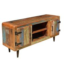 industrial media furniture. reclaimed wood rustic media console tv stand unit entertainment center furniture industrial