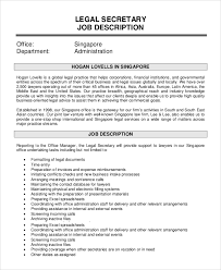 office manager sample job description sample secretary job description 8 examples in pdf word