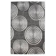 linon rugs milan gray circle rug