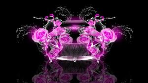lexus lf lc fantasy rose flowers car