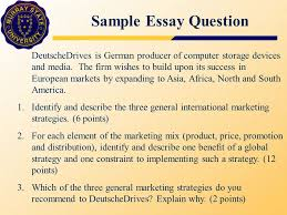 chapter fifteen global distribution mkt global marketing  sample essay question deutschedrives is german producer of computer storage devices and media