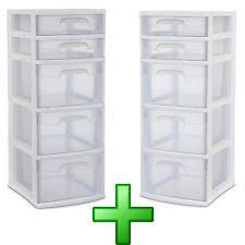 plastic storage drawers. Plastic Storage Drawers 2Pc Clear Rack Container Sterilite Bin Cabinet Organizer V