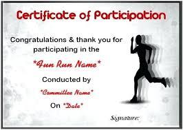 Fun Run Certificate Template Fun Run Certificate Template Fun Run Certificate Template