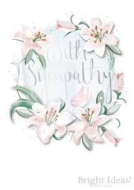 With Sympathy Condolence Card Lillies
