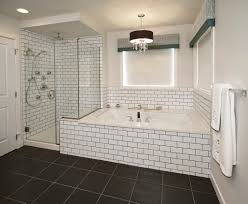 Subway Tile Bathroom Black Grout Bathroom Pinterest Black