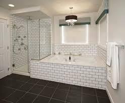 Subway Tile Bathroom Black Grout Bathroom Pinterest Black