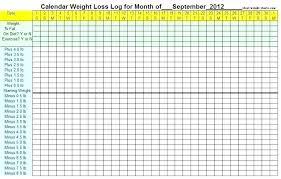 Weight Loss Log Images Record Template L Free Chart Card