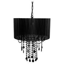 black chandelier lighting. Tadpoles 1-Light Black Chandelier Shade Lighting H