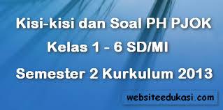 Latihan soal usbn sd 2019. Kisi Kisi Dan Soal Ph Uh Pjok Sd Mi Semester 2 Kurikulum 2013 Websiteedukasi Com