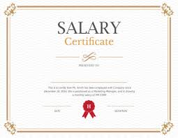 Printable Salary Certificate Templates Free Download