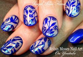 Robin Moses Nail Art: Royal Blue Delft Blauw Nail Art Design Tutorial