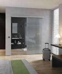 satin sliding single glass door