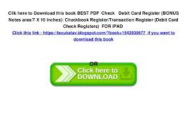 Check Register In Pdf Mesmerizing BEST PDF Check Debit Card Register BONUS Notes Area48 X 48 Inches