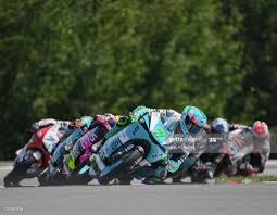 Leopard Racing's Italian rider Dennis Foggia leads the pack during... Foto  di attualità - Getty Images