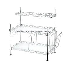 wire rack kitchen new design small 3 shelves chrome metal kitchen wire rack home styles orleans