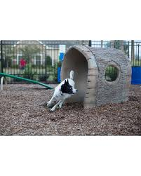 nature bark log tunnel dog park equipment