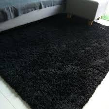 ikea high pile wool rug black furniture others on
