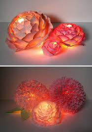 Paper Flower Lamp Paper Flowers With Lights Nighttime Sweet Paper Flower