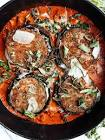baked eggplant with portabellas and tomato sauce  vegetarian