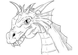 Realistic Dragon Coloring Pages Realistic Dragon Sketch Printable