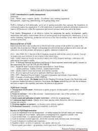 tqm conclusion implementation of total quality management based tqm units notes