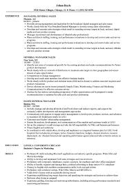 General Manager Sales Resume Samples Velvet Jobs