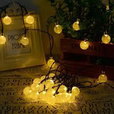 com solvao solar globe string lights 30 led waterproof outdoor decorative lighting for your patio garden deck umbrella or camping trip