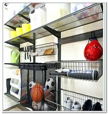 vertical ball rack on furniture built rubbermaid rubber maid garage large size of depot wall shelves wire shelving