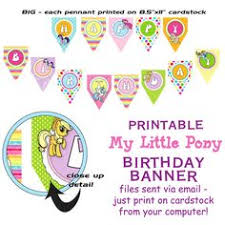 Small Picture My Little Pony birthday banner instant download by KitsandMore