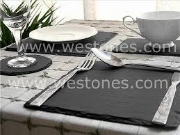 slate placemats coasters dining tablemats