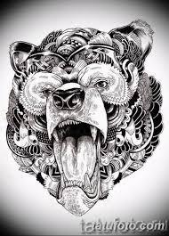 тату эскизы мужские медведь 09032019 001 Tattoo Sketches