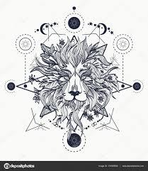 татуировка лев эскиз голова льва декоративные татуировки