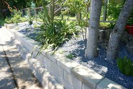 view in gallery retaining wall project with modern landscaping