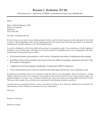 What Goes On A Cover Letter Of A Resume Best Of Radiologic Technologist Cover Letter