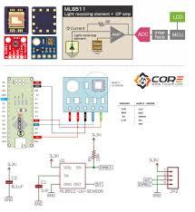 wiring the ml8511 ultra violet light sensor on microcontroller wiring diagram